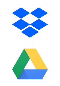 dropbox and google drive logos