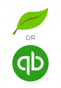 freshbooks and quickbooks accounting systems logos