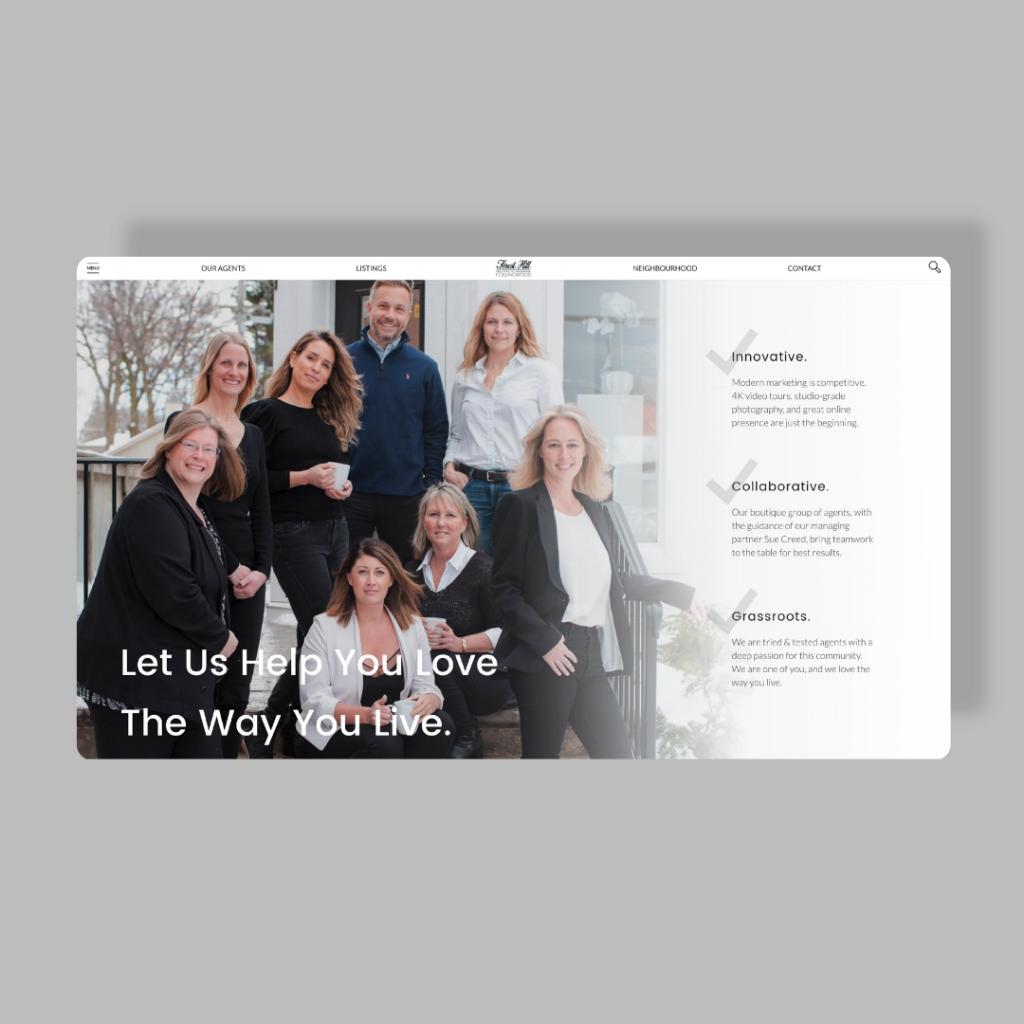 Real Estate Brokerage Forest Hill Collingwood website web design mockup