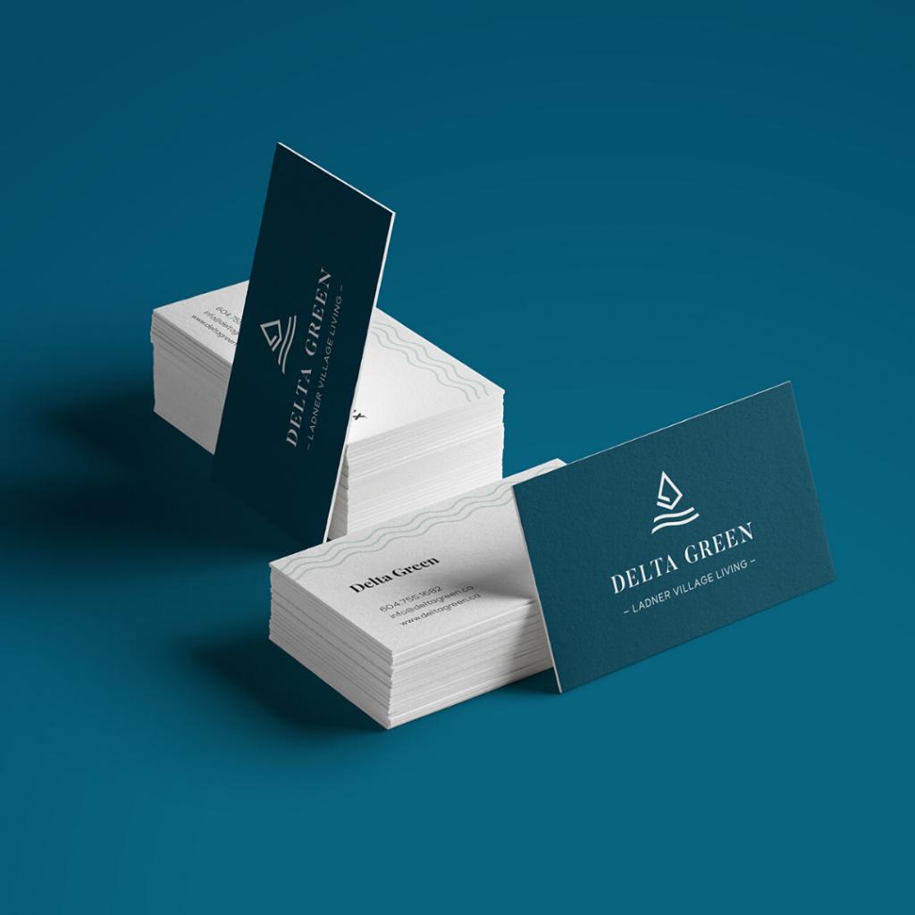 Business Cards Delta Green Ladner Delta Real Estate Development project Marketing mockup