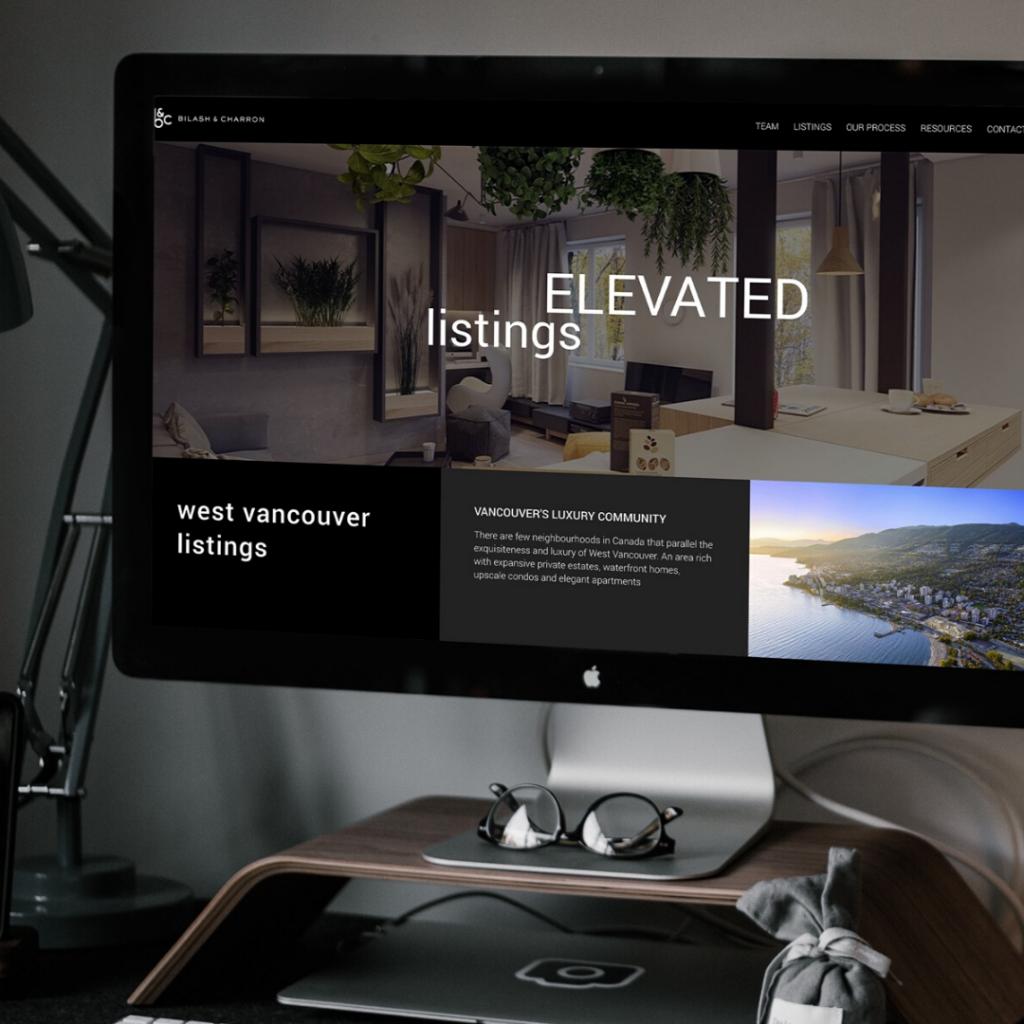 Bilash and Charron website YVR Vancouver Real Estate Realtor team mockup