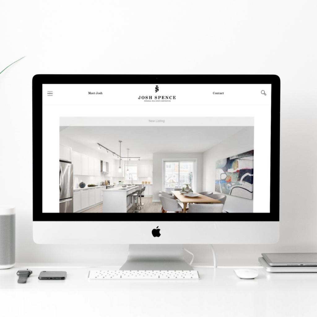 Josh Spece Port Moody Real Estate Vancouver Website web design mockup